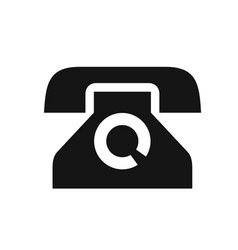 old phone with a disk simple black icon vector image