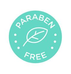 Paraben free icon cosmetic label vector