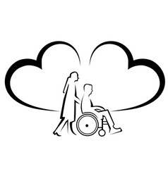 Physical disability insurance vector