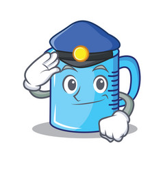 Police measuring cup character cartoon vector