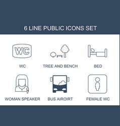 Public icons vector