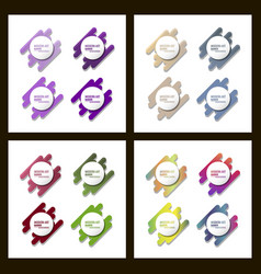 set of a minimalistic hipster colored frame vector image