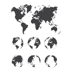 Set of world map vector