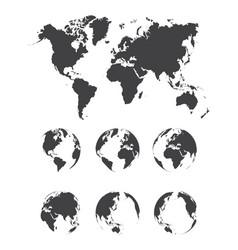 set world map vector image