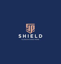 sp shield logo vector image