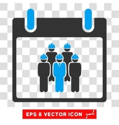 Staff Calendar Day Eps Icon vector image