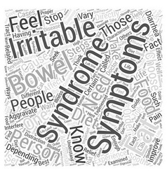 Symptoms irritable bowel syndrome Word Cloud vector