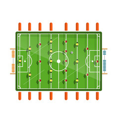 Table football flat design isolated on white vector
