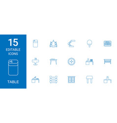 Table icons vector