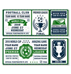 Tickets for football soccer championship vector