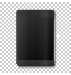 Touch tablet on transparent background vector
