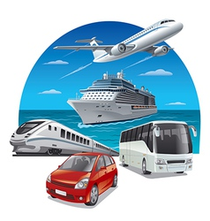 travel transport vector image
