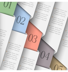 Trendy paper numbered banners vector image