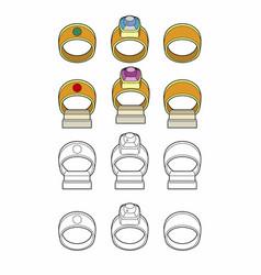 Various rings vector