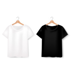 views of t-shirt set on white background vector image