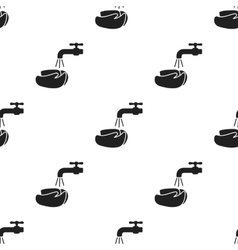 Washing hands icon black single sick icon from vector