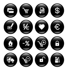 web commerce icons vector image vector image