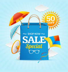 big sale summer concept banner card or poster vector image vector image