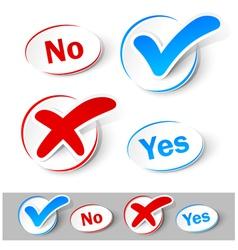 Check mark yes and no vector