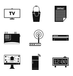 electron device icons set simple style vector image vector image