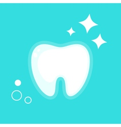 human tooth Flat design vector image