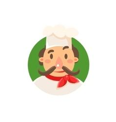 Italian Cook In Uniform vector image vector image