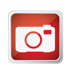 red emblem camera icon vector image