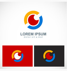 round eye technology logo vector image