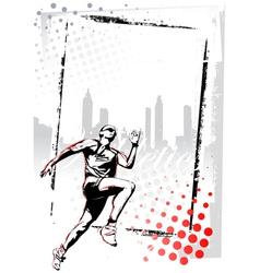 runner poster vector image vector image