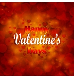 Valentines day background with hearts vector image
