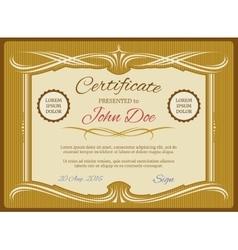 Vintage certificate template retro diploma vector