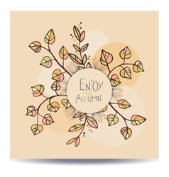 Enjoy autumn card vector image vector image