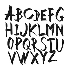 Hand Drawn Calligraphy Alphabet Uppercase letters vector image