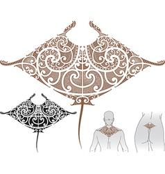 Maori manta tattoo design vector