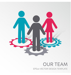 our company team icon vector image