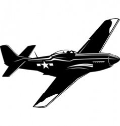 p51 mustang vector image vector image