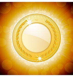 shining gold medal background vector image vector image