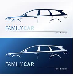 a minivan family car vector image vector image