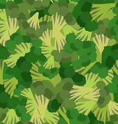Broccoli pattern Seamless background with green vector image vector image