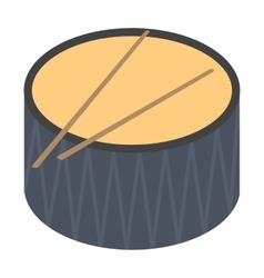 Drum icon in cartoon style isolated on white vector image