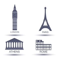 European capital vector image vector image
