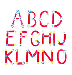 watercolor alphabet vector image vector image