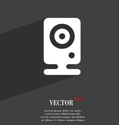 Web cam icon symbol Flat modern web design with vector image