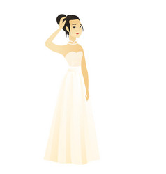 young caucasian fiancee scratching her head vector image