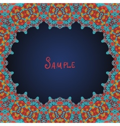 Arabian style frame for text vector image