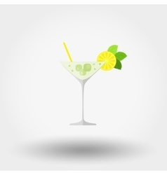 Martini cocktail Flat vector image