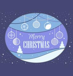 merry christmas papercut style christmas balls vector image