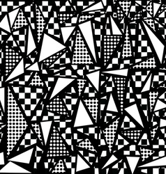 80s geometric seamless pattern in black and white vector
