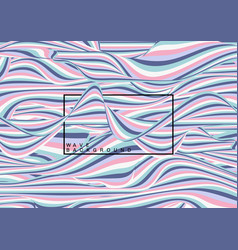 abstract pastel color waves lines pattern fluid vector image