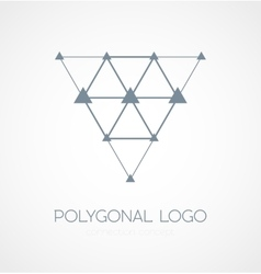 Abstract triangle connection concept icon logo vector image